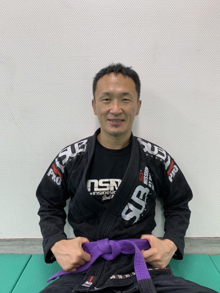 柔術着を着た和田社長